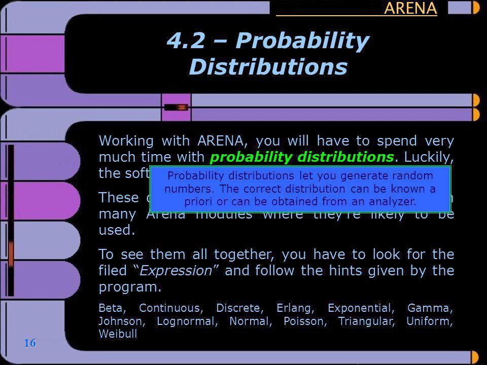 4.2 – Probability Distributions