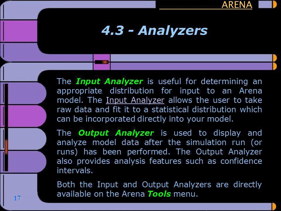 ARENA 4.3 - Analyzers.
