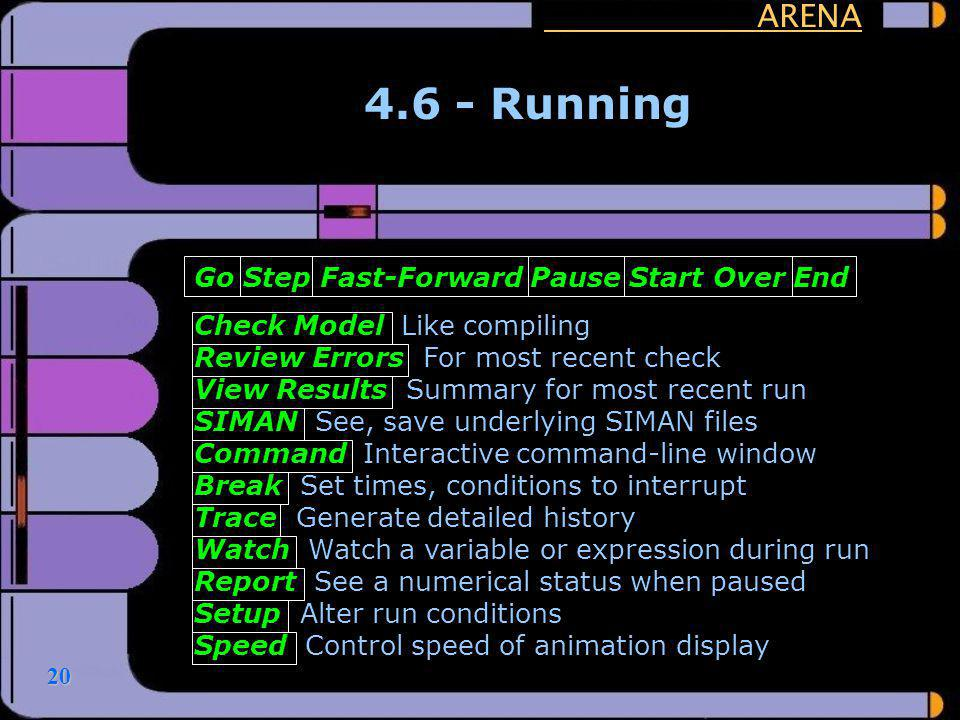 4.6 - Running ARENA Go Step Fast-Forward Pause Start Over End