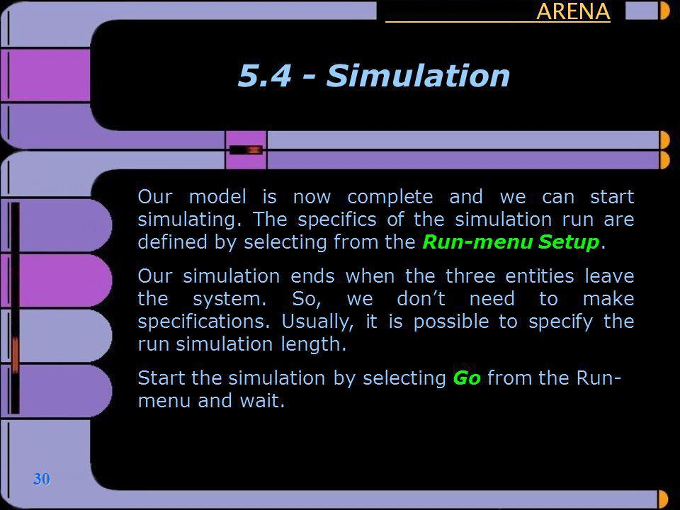 ARENA 5.4 - Simulation.