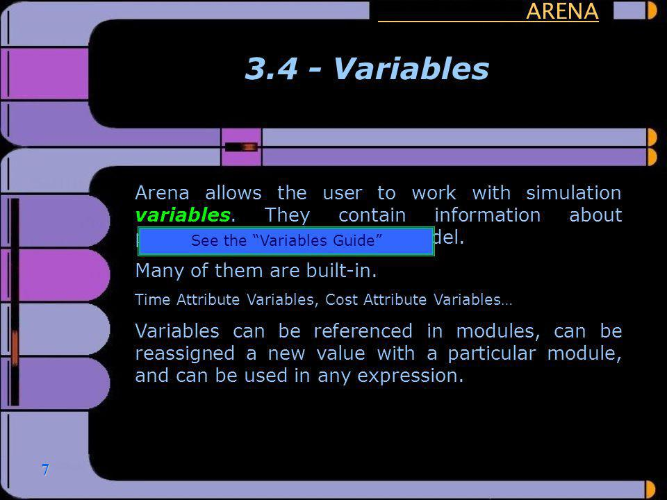 See the Variables Guide