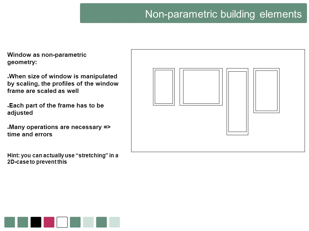 Non-parametric building elements