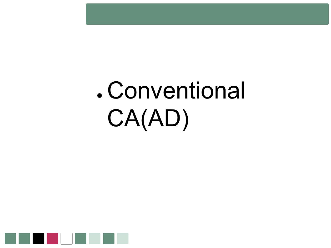 Conventional CA(AD)