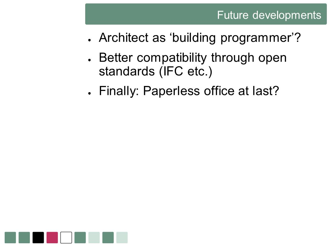 Architect as 'building programmer'