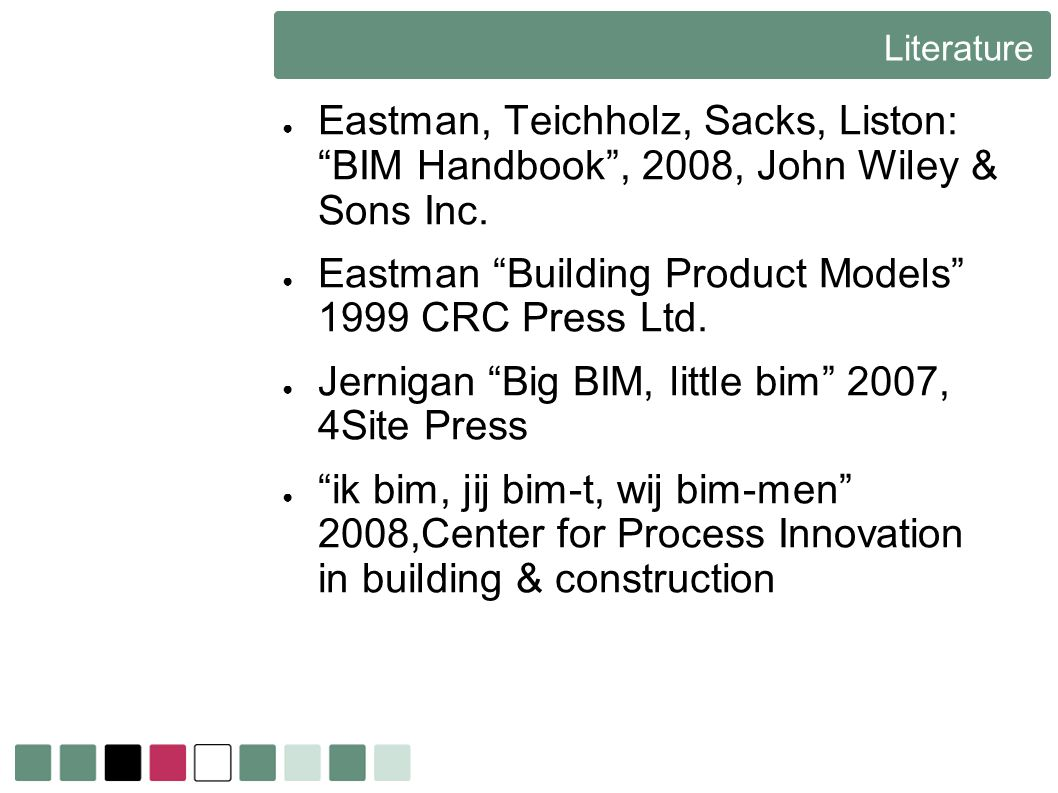 Eastman Building Product Models 1999 CRC Press Ltd.