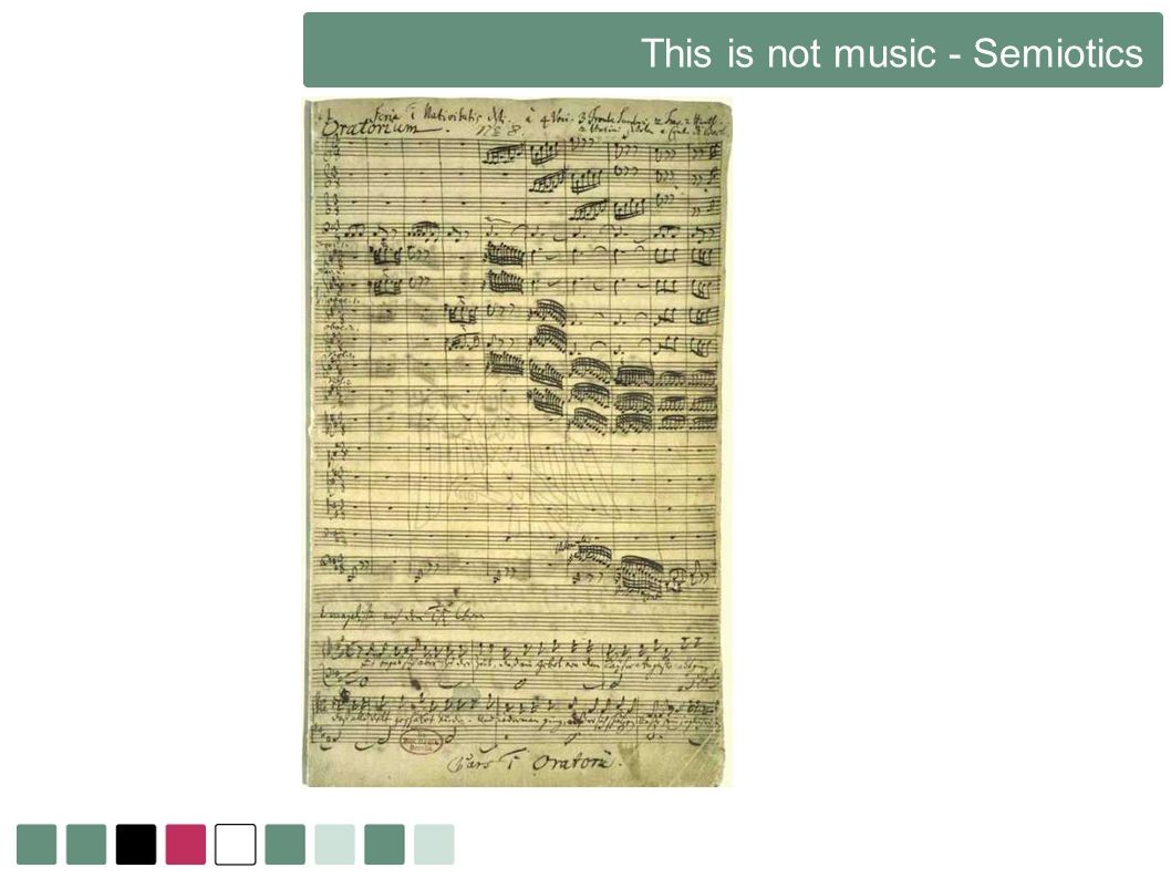 This is not music - Semiotics