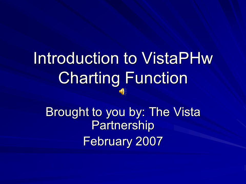 Introduction to VistaPHw Charting Function