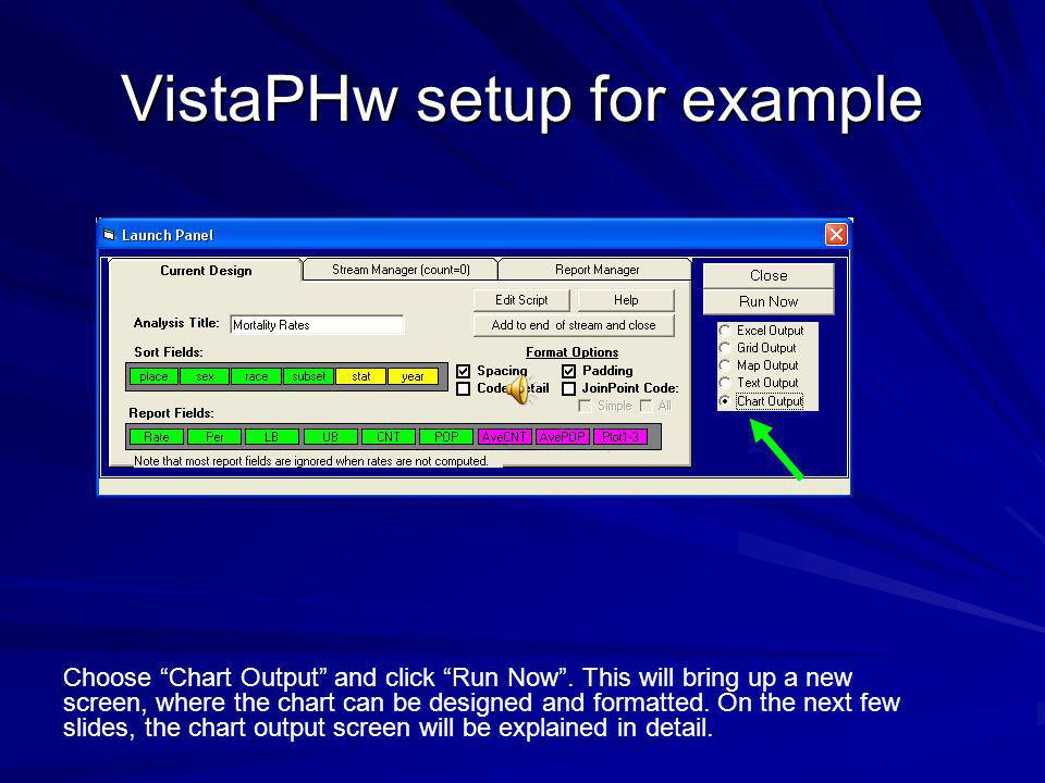 VistaPHw setup for example