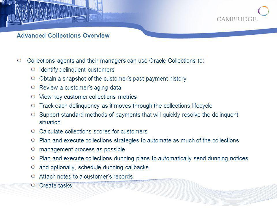Advanced Collections Overview