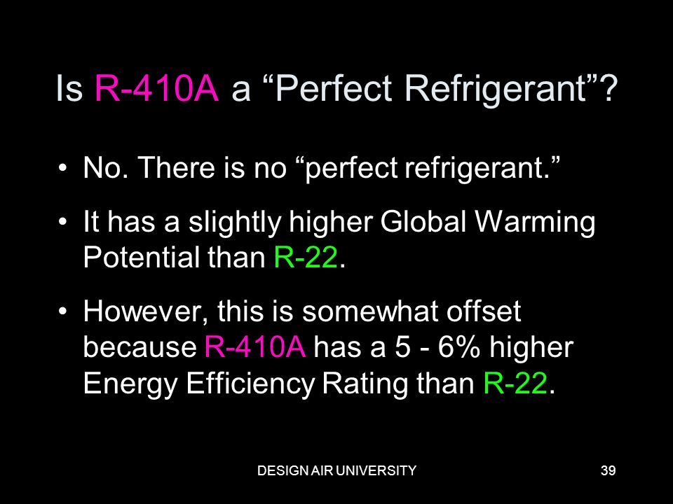 Is R-410A a Perfect Refrigerant