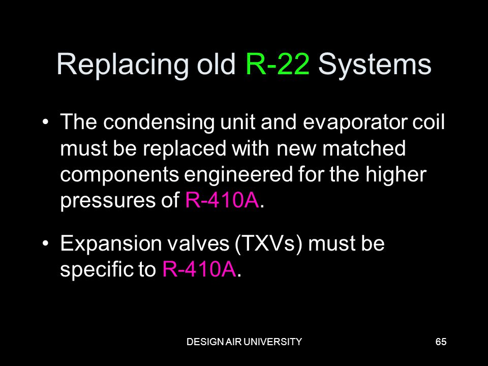 Replacing old R-22 Systems
