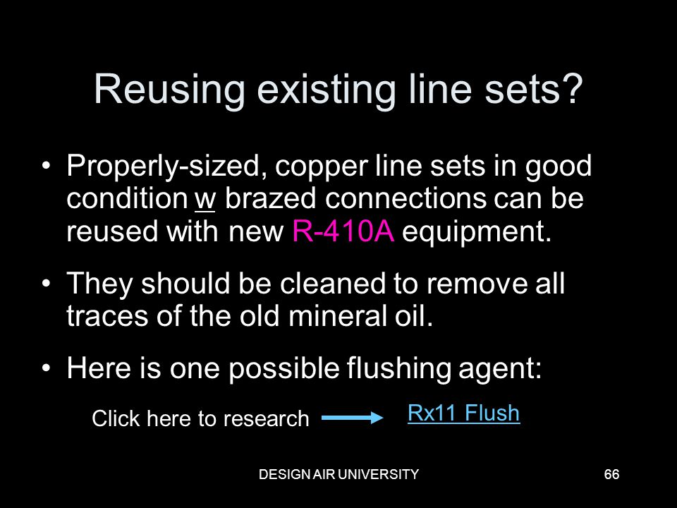Reusing existing line sets