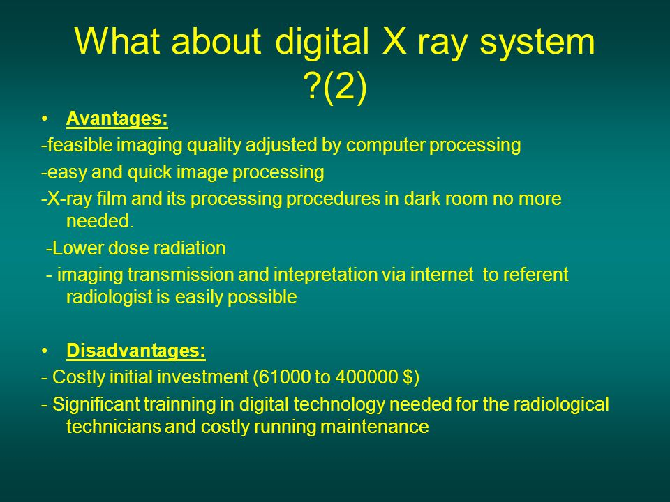 What about digital X ray system (2)