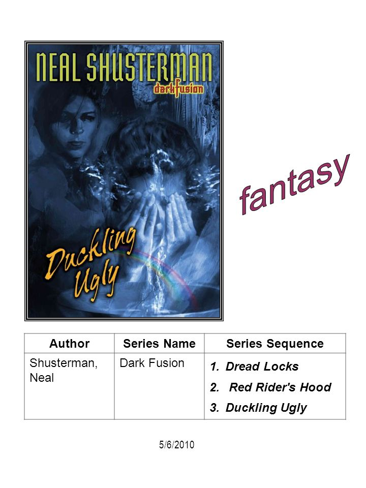 fantasy Author Series Name Series Sequence Shusterman, Neal