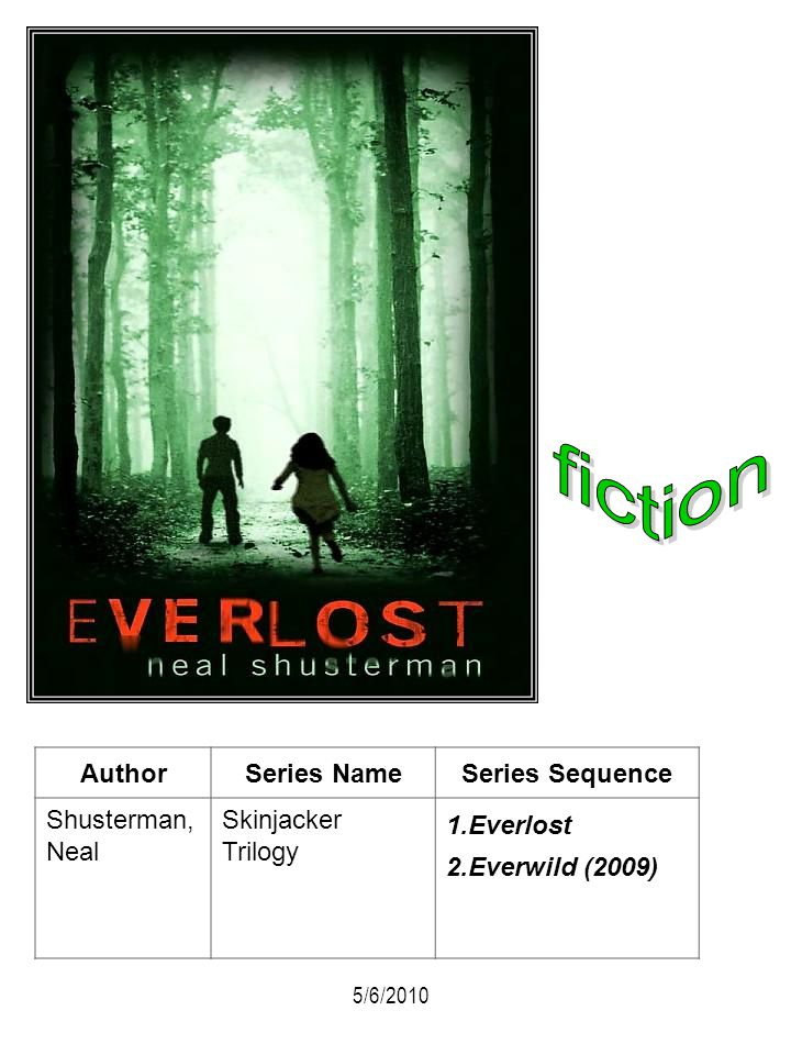 fiction Author Series Name Series Sequence Shusterman, Neal