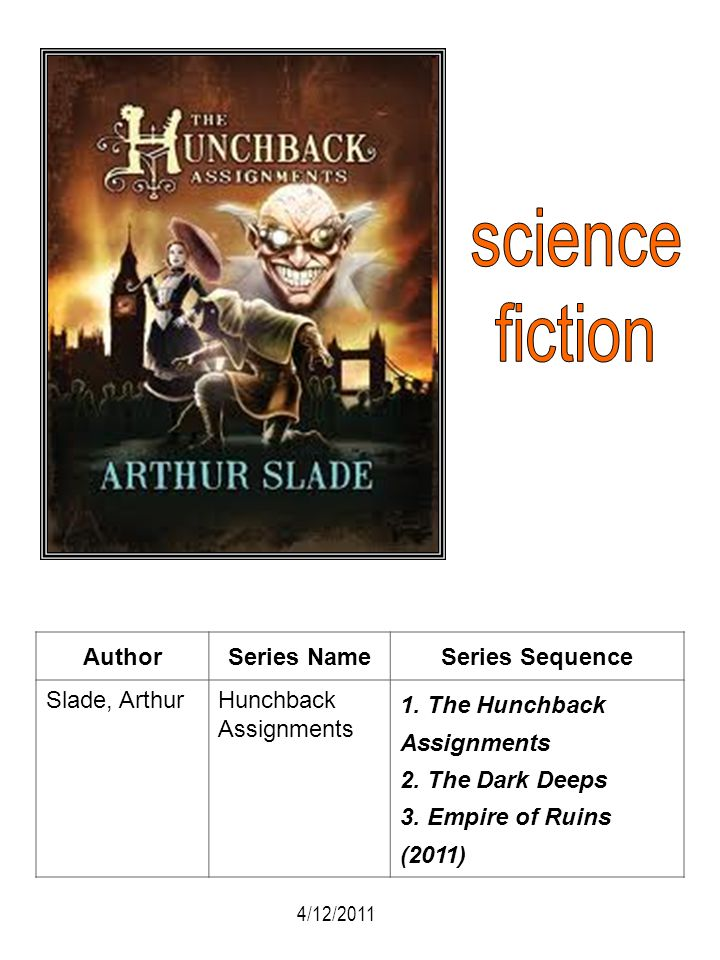 science fiction Author Series Name Series Sequence Slade, Arthur