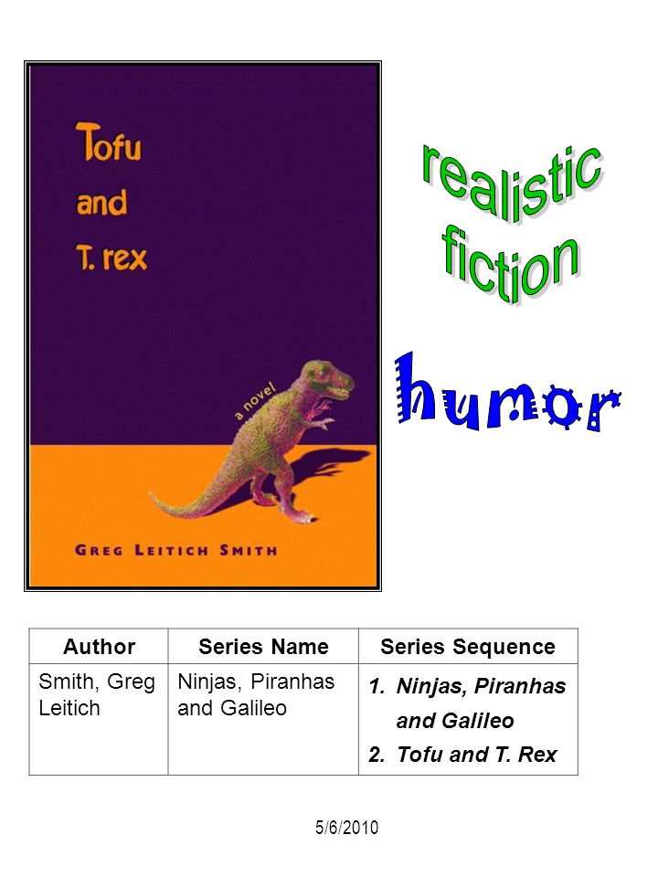 realistic fiction humor Author Series Name Series Sequence
