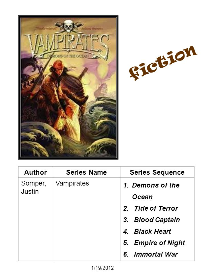 fiction Author Series Name Series Sequence Somper, Justin Vampirates