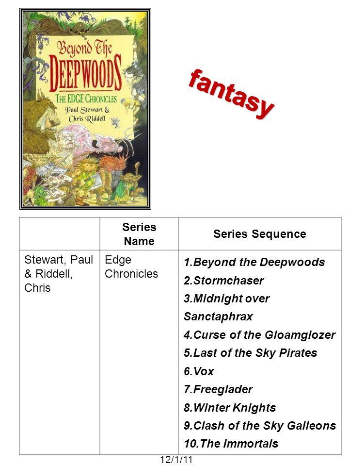 fantasy Series Name Series Sequence Stewart, Paul & Riddell, Chris