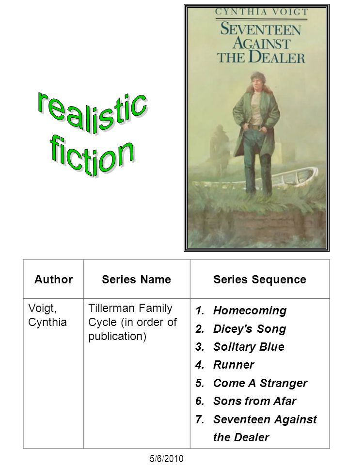 realistic fiction Author Series Name Series Sequence Voigt, Cynthia
