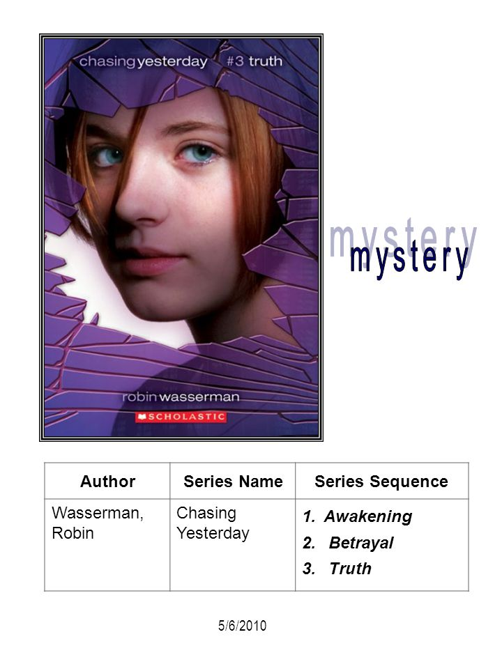 mystery Author Series Name Series Sequence Wasserman, Robin