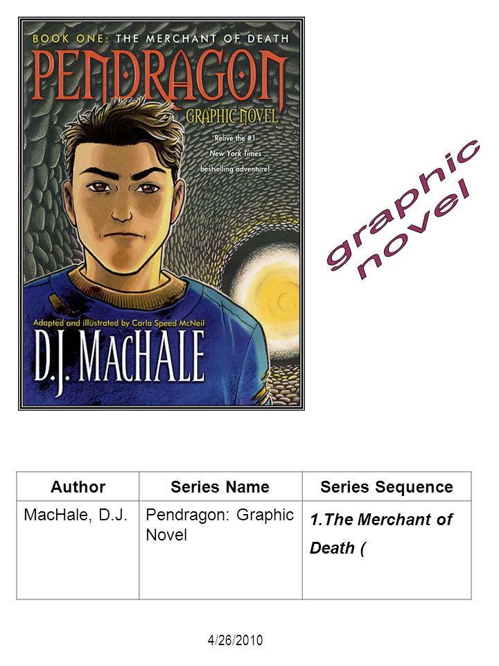 graphic novel Author Series Name Series Sequence MacHale, D.J.