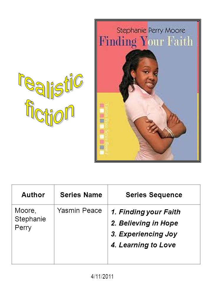 realistic fiction Author Series Name Series Sequence