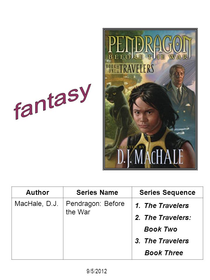 fantasy Author Series Name Series Sequence MacHale, D.J.