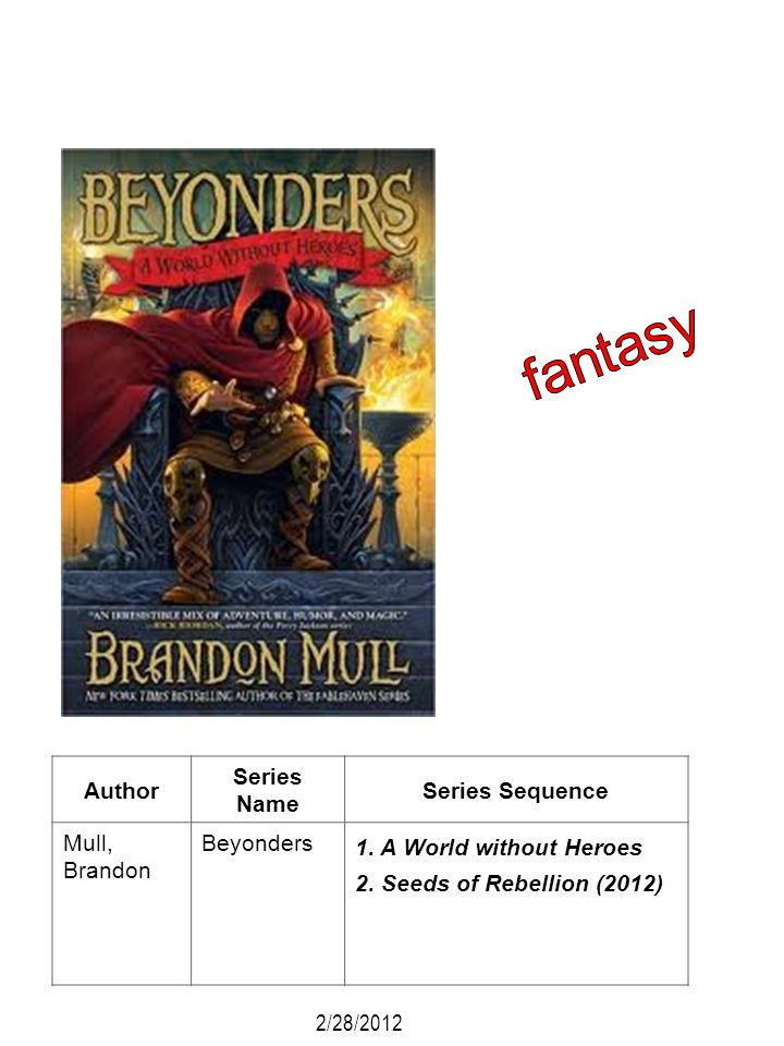 fantasy Author Series Name Series Sequence Mull, Brandon Beyonders
