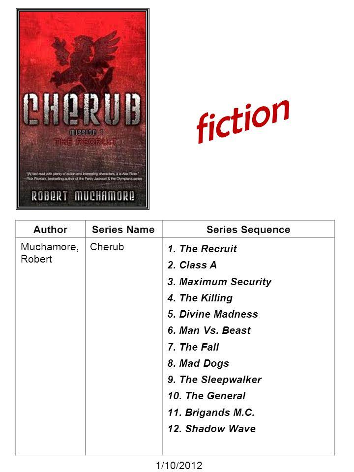 fiction Author Series Name Series Sequence Muchamore, Robert Cherub