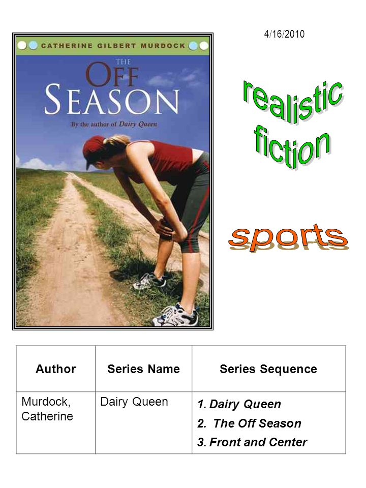 realistic fiction sports Author Series Name Series Sequence
