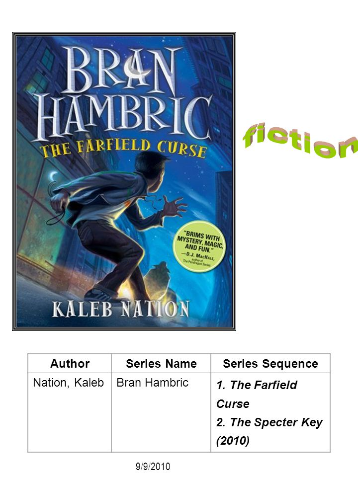 fiction Author Series Name Series Sequence Nation, Kaleb Bran Hambric