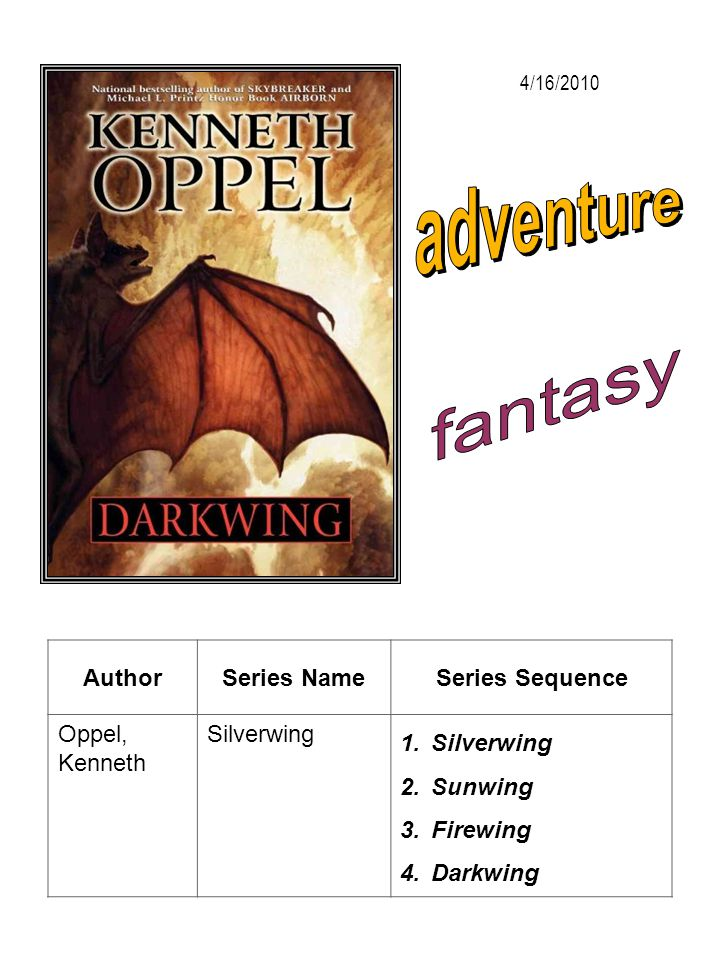 adventure fantasy Author Series Name Series Sequence Oppel, Kenneth