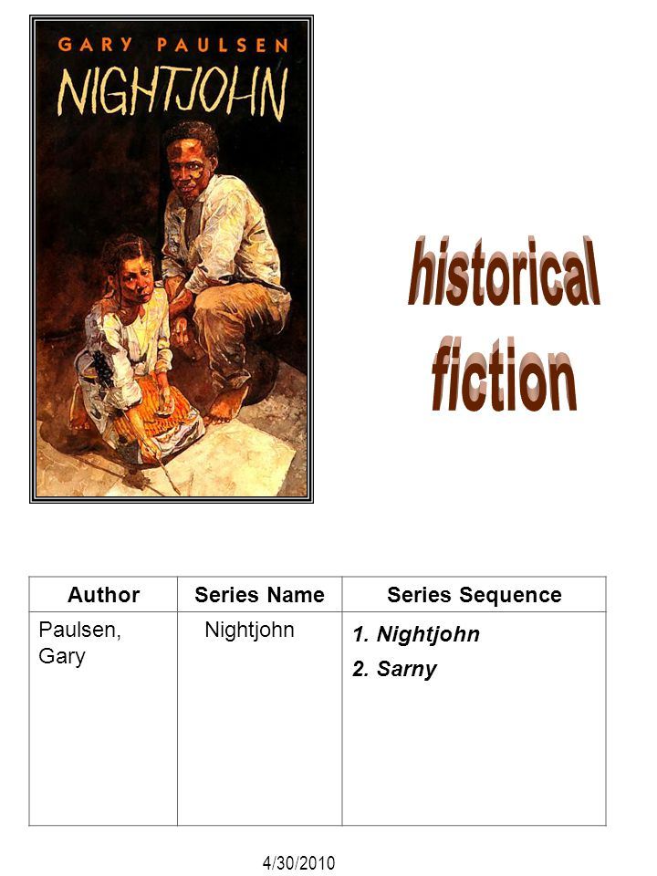 historical fiction Author Series Name Series Sequence Paulsen, Gary