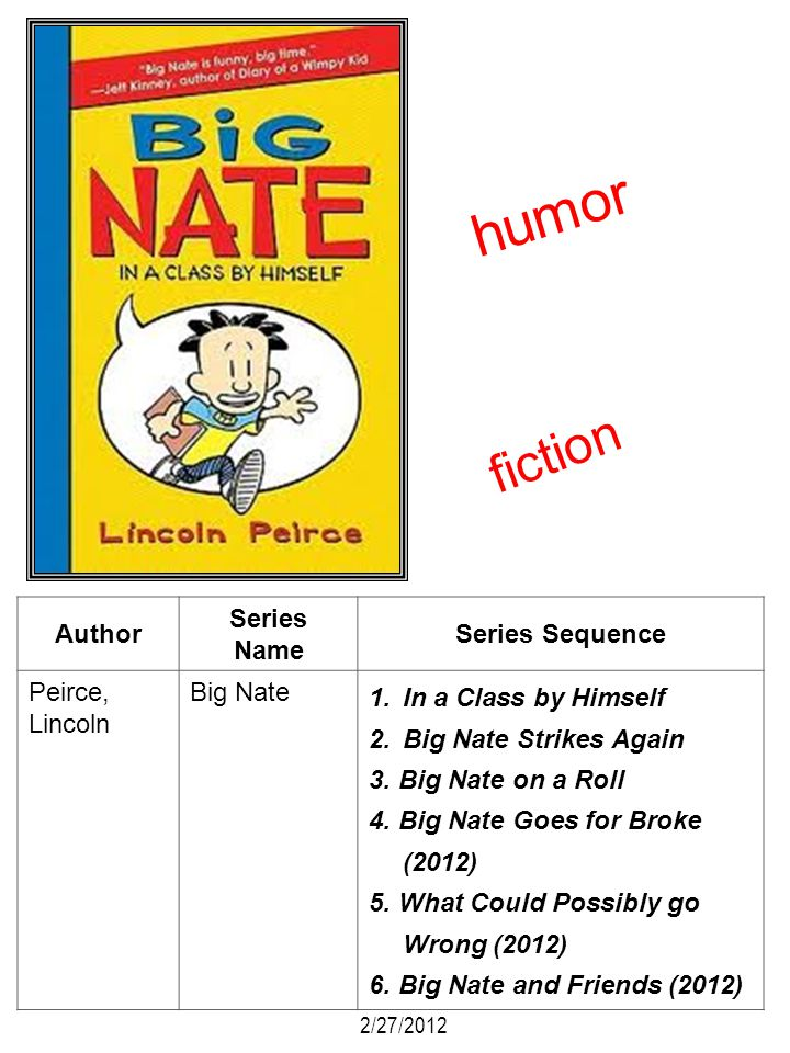 humor fiction Author Series Name Series Sequence Peirce, Lincoln