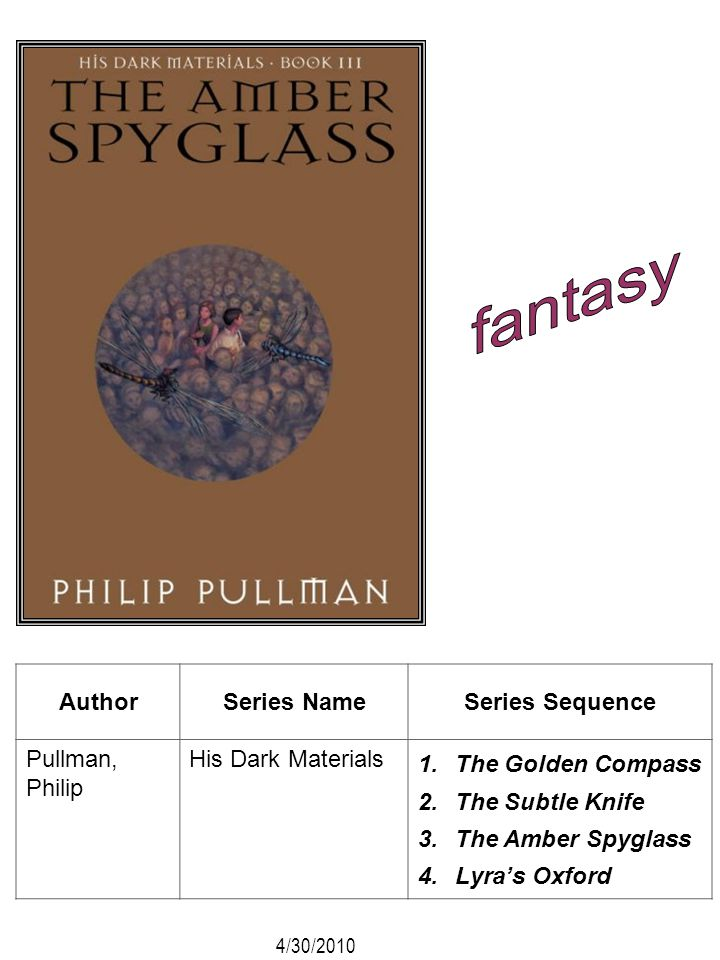 fantasy Author Series Name Series Sequence Pullman, Philip