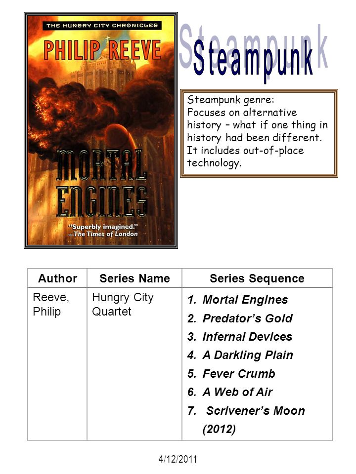 Steampunk Author Series Name Series Sequence Reeve, Philip