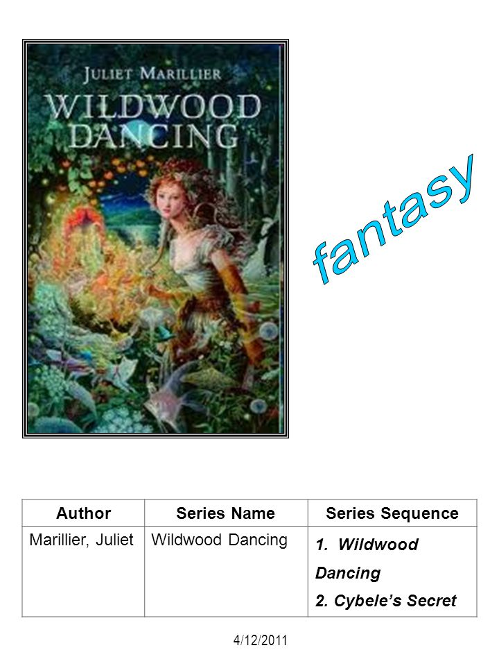 fantasy Author Series Name Series Sequence Marillier, Juliet
