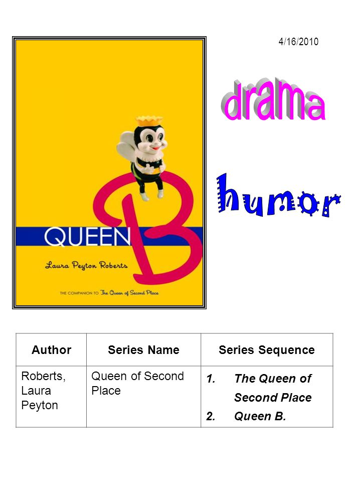 drama humor Author Series Name Series Sequence Roberts, Laura Peyton