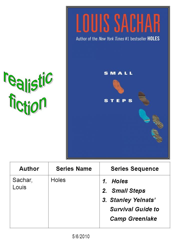 realistic fiction Author Series Name Series Sequence Sachar, Louis