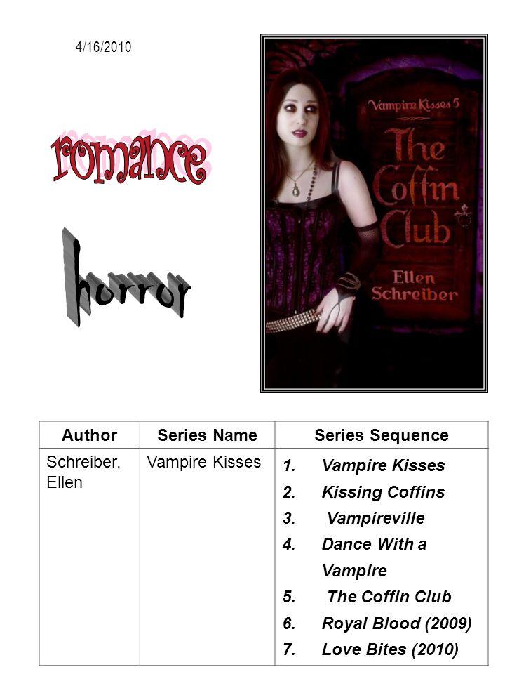 romance horror Author Series Name Series Sequence Schreiber, Ellen