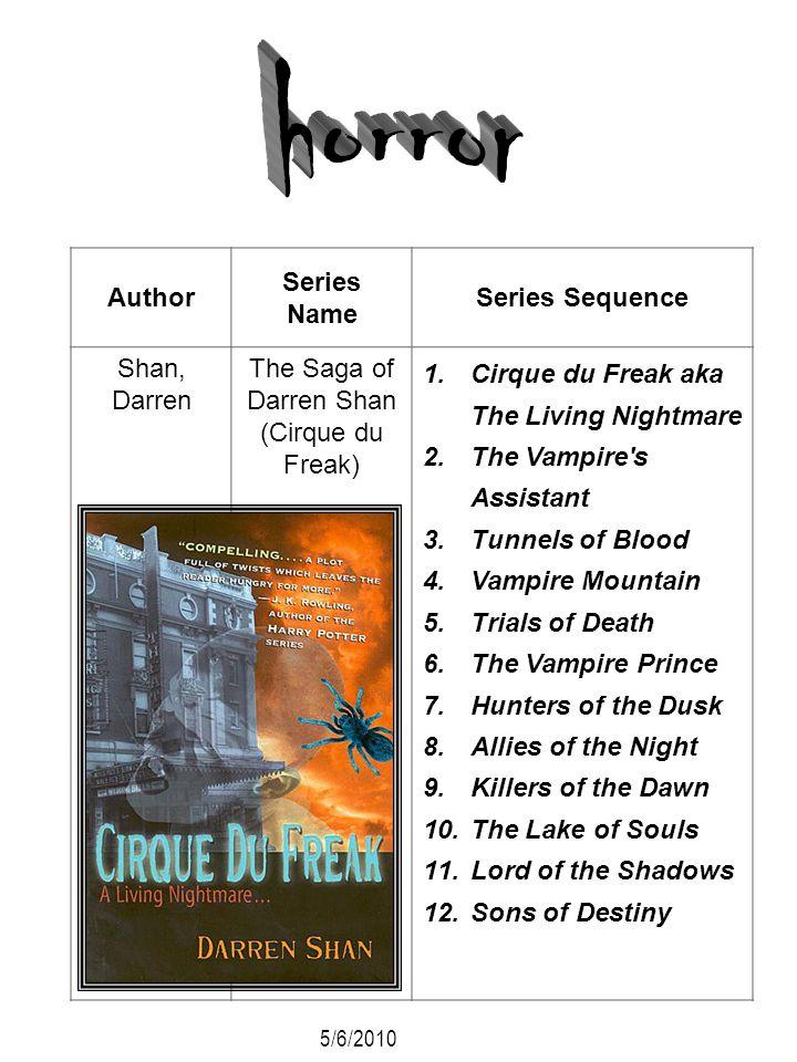 The Saga of Darren Shan (Cirque du Freak)