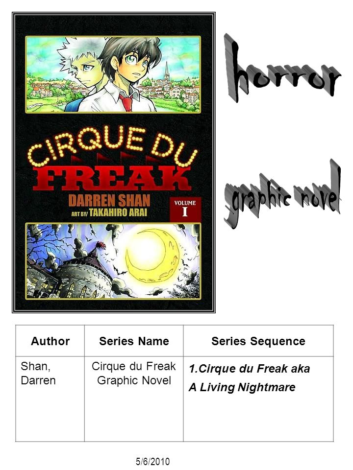 horror graphic novel Author Series Name Series Sequence Shan, Darren