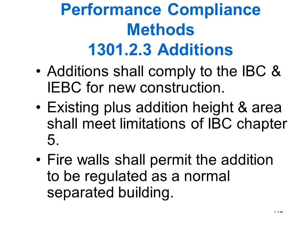 Performance Compliance Methods 1301.2.3 Additions
