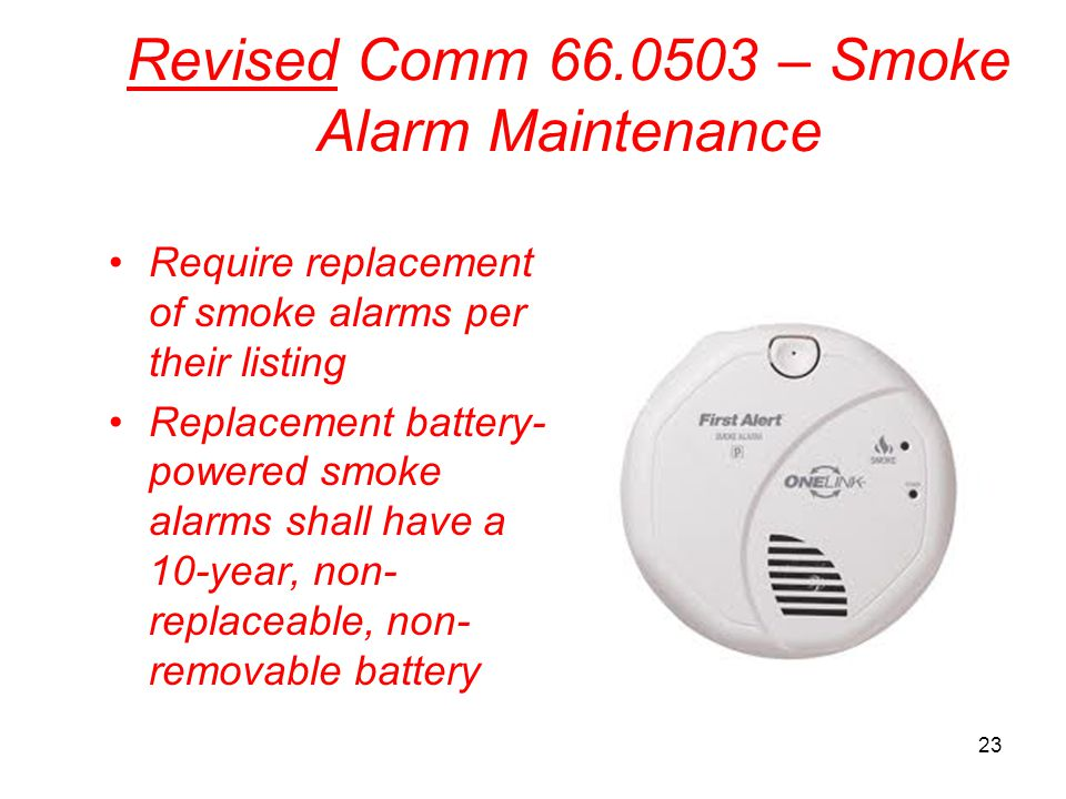 Revised Comm 66.0503 – Smoke Alarm Maintenance