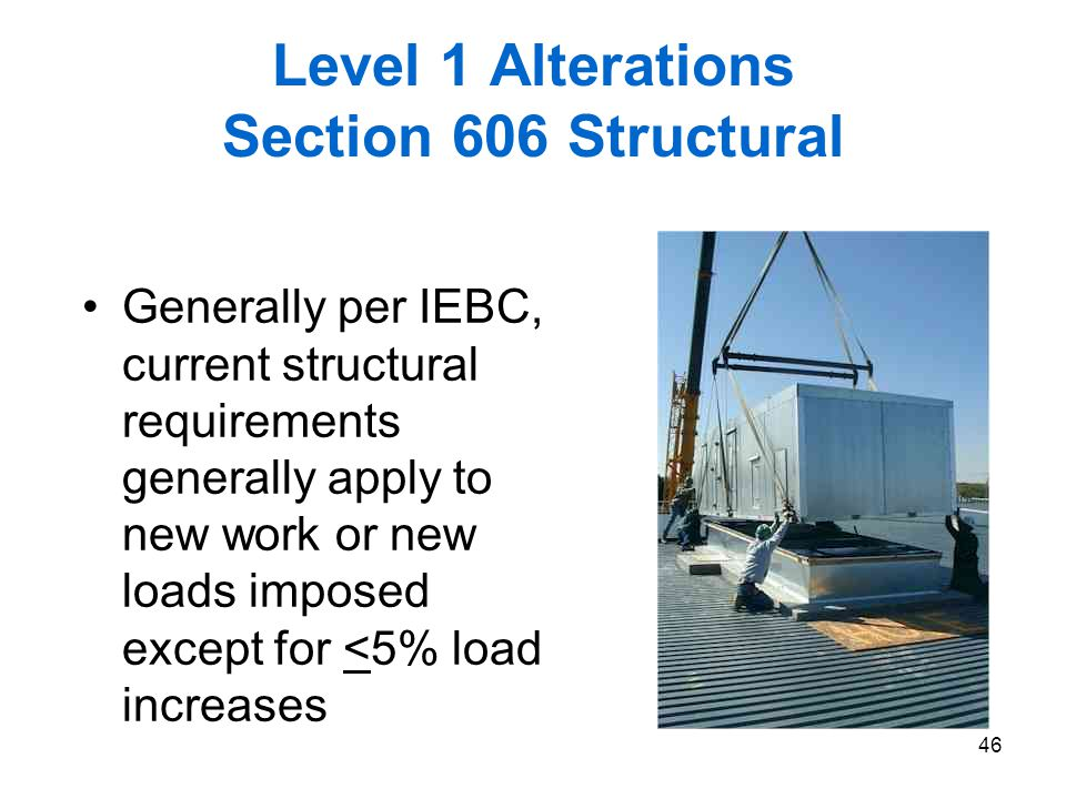 Level 1 Alterations Section 606 Structural