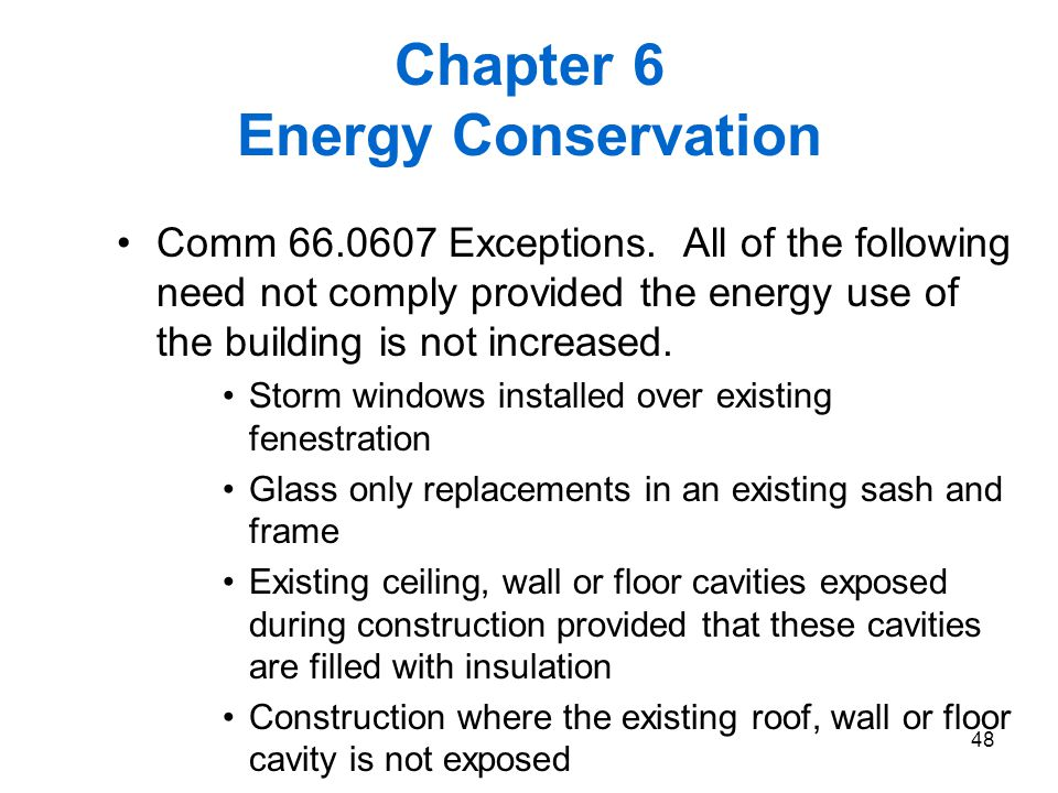 Chapter 6 Energy Conservation