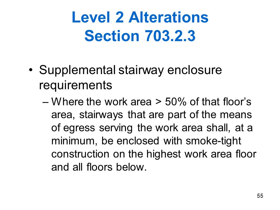 Level 2 Alterations Section 703.2.3