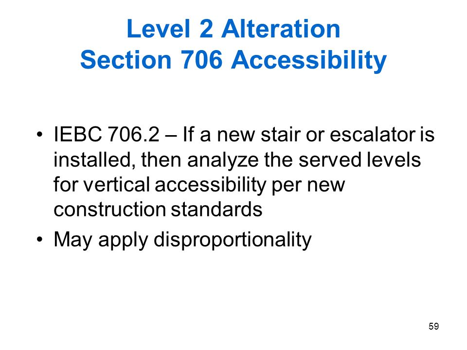 Level 2 Alteration Section 706 Accessibility