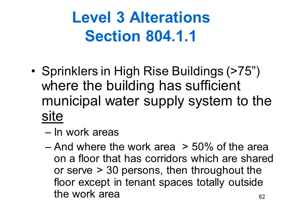 Level 3 Alterations Section 804.1.1